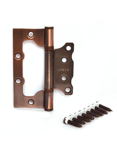 Петля накладная Apecs 100*75*2.5-B2-Steel-AC-Blister