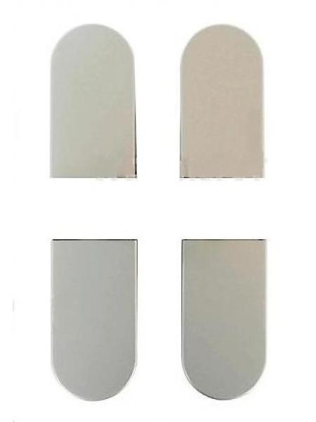 Колпачки для петель К1000, цвет Матовый хром (4 шт.)
