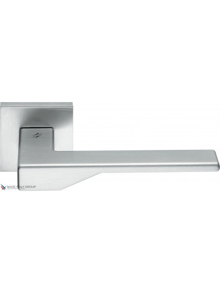 Дверная ручка на квадратной розетке COLOMBO Dea FF21RSB-CM матовый хром