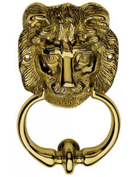 Дверная стучалка Linea Cali 358 BA OL LEONE (120х90) Золото полированное