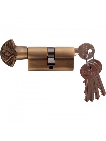 Дверной цилиндр Melodia 60 30/30 WC DECOR 5 ключей Матовая бронза