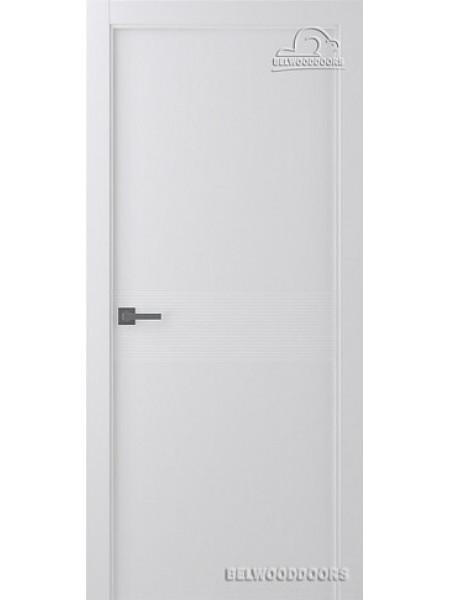 Межкомнатная дверь Belwooddoors ИВЕНТ 2 (ПОЛОТНО ГЛУХОЕ), Эмаль белый