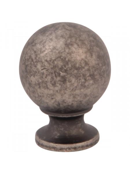 Мебельная ручка Melodia 803 Античное серебро DAS BALL D30 mm