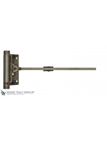 Доводчик дверной стальной пружинный до 60кг ALDEGHI (125x300мм) античное серебро