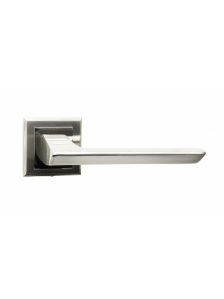 Ручка дверная на квадратной розетке Bussare ASPECTO A-64-30 S.CHROME Матовый хром