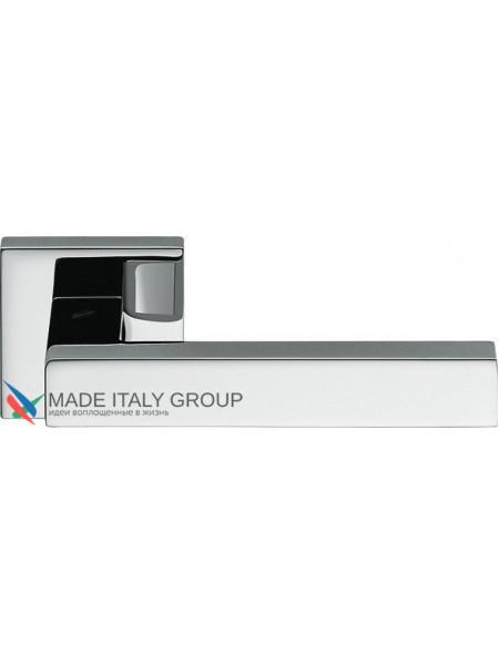 Дверная ручка на квадратной розетке COLOMBO Elesse BD21RSB-CR полированный хром