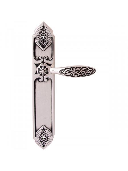 Дверная ручка на планке Class 1060/1010 Shamira Pass Серебро 925 + черный
