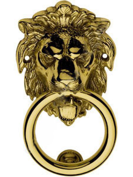 Дверная стучалка Linea Cali 351 BA OL LEONE ANELLO(Б) Золото полированное
