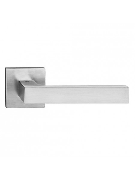 Ручка дверная на квадратной розетке Tupai Square Q 2275 5S Q-96 хром матовый R ф/з
