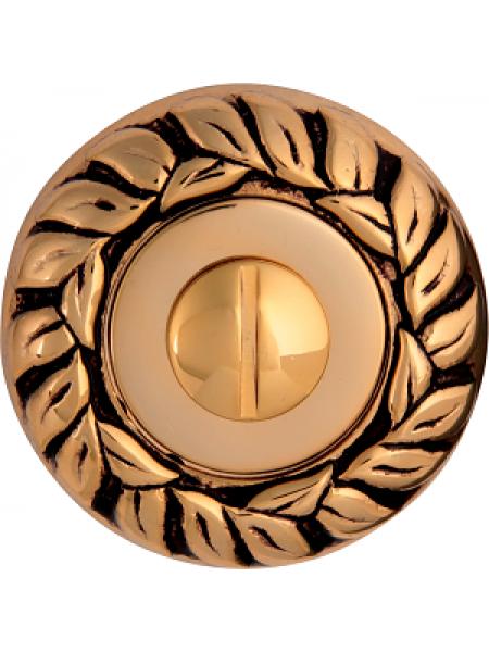 Дверной фиксатор Class WC rose 60 mm Золото 24 K + Коричневый