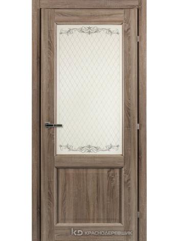 6000 СОНОМА Дверь 6324 ДО 21- 7…9 (пр/л), с фурн., Стекло Кружево