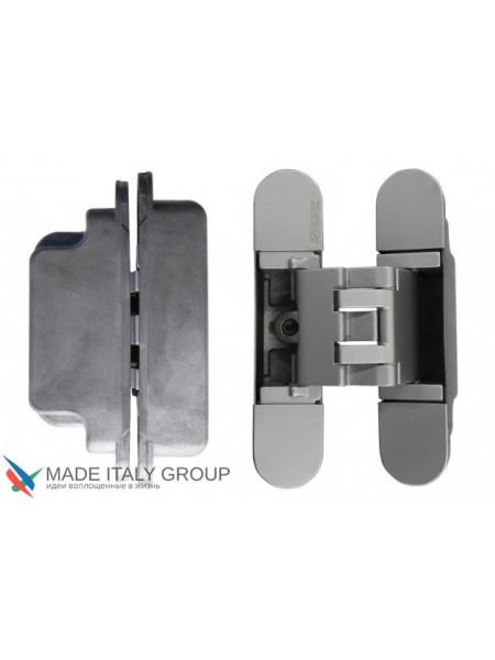 KUBICA 3000 DXSX, CR.SAT петля скрытая универсальная для дверей с притвором до 10мм матовый ХРОМ (60кг)