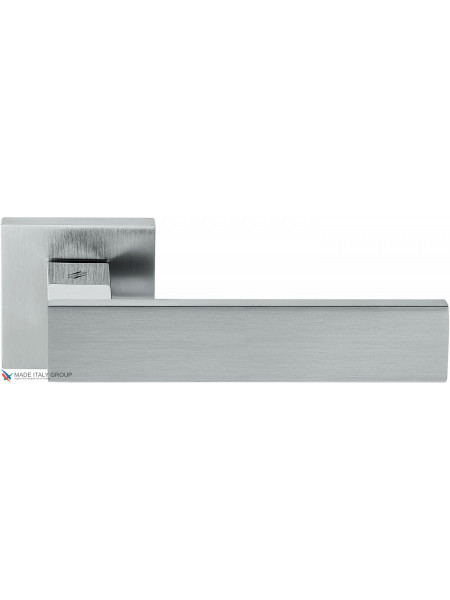 Дверная ручка на квадратной розетке COLOMBO Alba LC91RSB-CR8 полированный хром / матовый хром