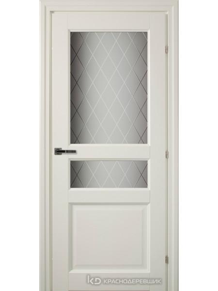 6000 Белый CPL Дверь 6334 ДО 21- 7….9 (пр/л), с фурн., Стекло Кристалл