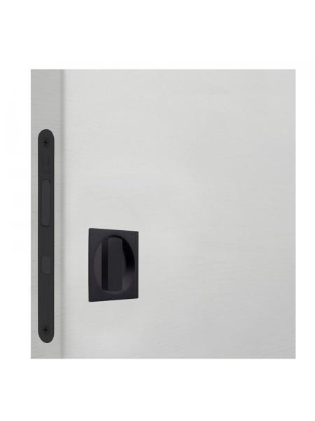 Комплект для раздвижных дверей Bonaiti WC (Механизм G500T H21 + ручки EASY QUADRO) Матовый черный