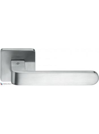 Дверная ручка на квадратной розетке COLOMBO Fedra AC11RSB-CR матовый хром