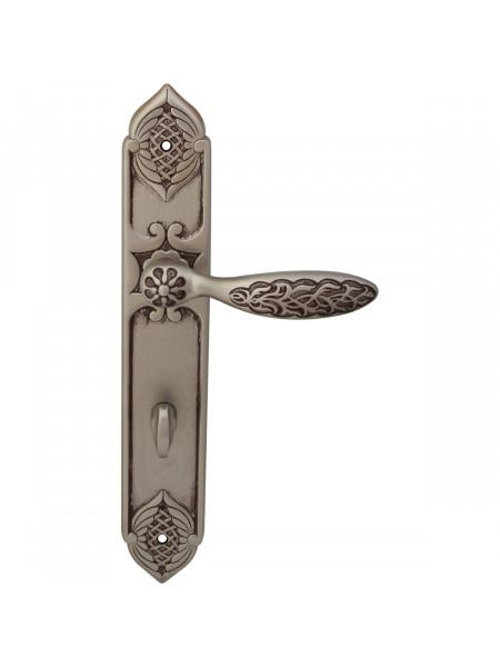 Дверная ручка на планке Class 1060/1010 Shamira Wc Старинное серебро матовое + коричневый