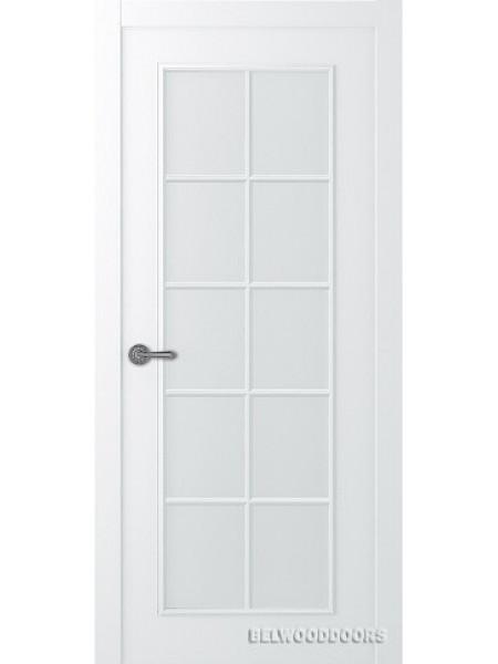 Межкомнатная дверь Belwooddoors ЛАМИРА 1 (ОСТЕКЛЕННОЕ) - Мателюкс белый, Эмаль белый