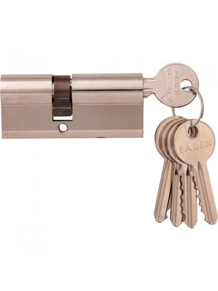 Дверной цилиндр Melodia 70 30/40 5 ключей Полированный хром