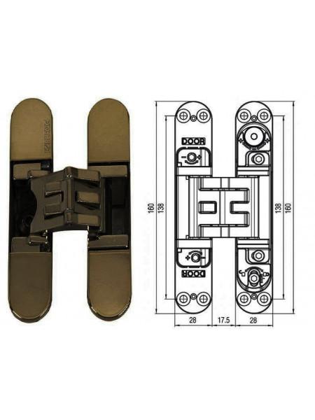 KUBICA 5080 DXSX, BR петля скрытая универсальная БРОНЗА (80 kg)