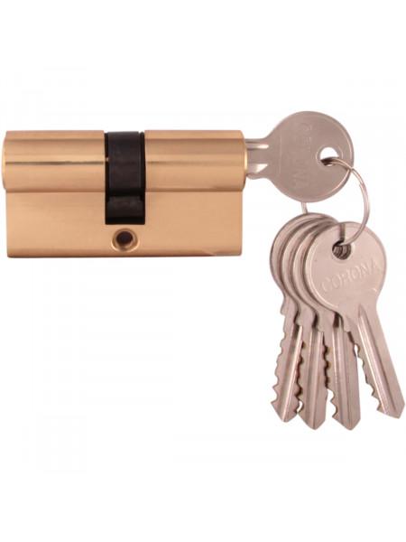 Дверной цилиндр Melodia 60 30/30 5 ключей Полированная латунь