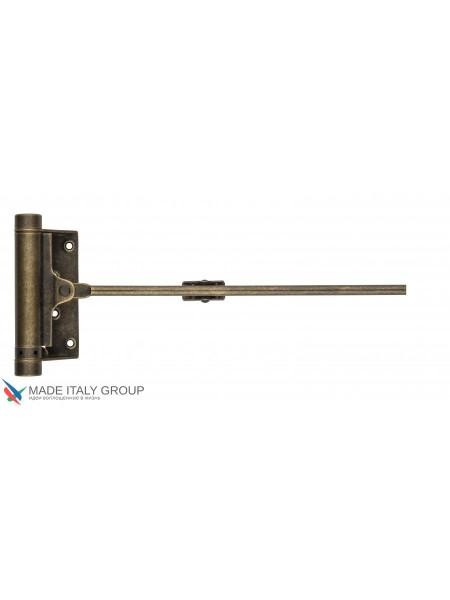 Доводчик дверной стальной пружинный до 25кг ALDEGHI (77x235мм) античная бронза