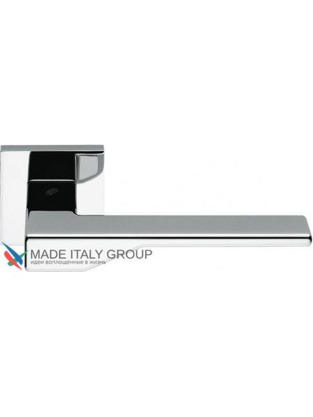 Дверная ручка на квадратной розетке COLOMBO Dea FF21RSB-CR полированный хром