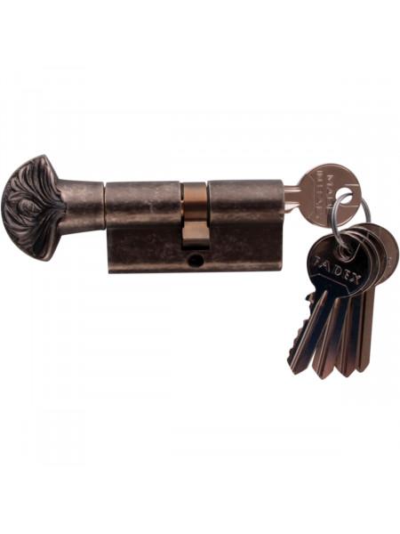 Дверной цилиндр Melodia 60 30/30 WC DECOR 5 ключей Античное серебро