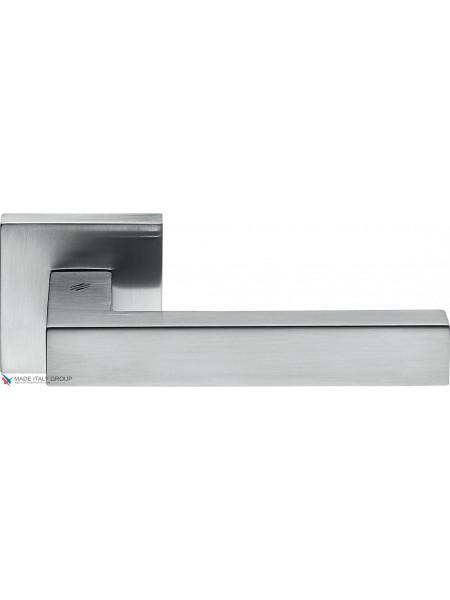 Дверная ручка на квадратной розетке COLOMBO Elesse BD21RSB-CM матовый хром