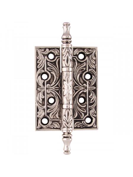 Дверная петля накладная Class В 5010 Серебро 925 + черный