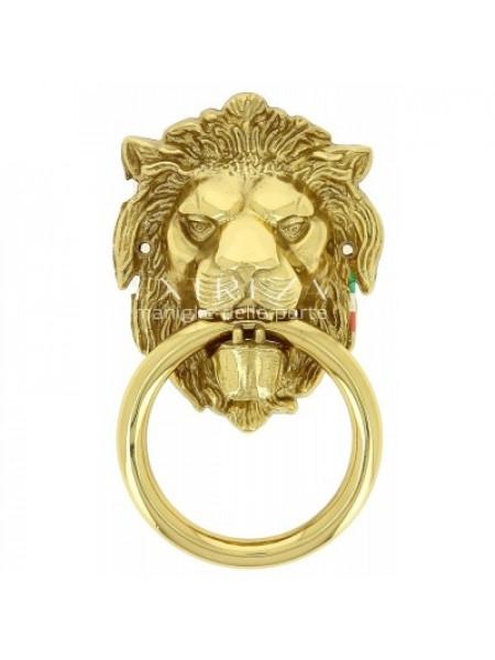 Дверное кольцо Extreza Leo полированная латунь F01