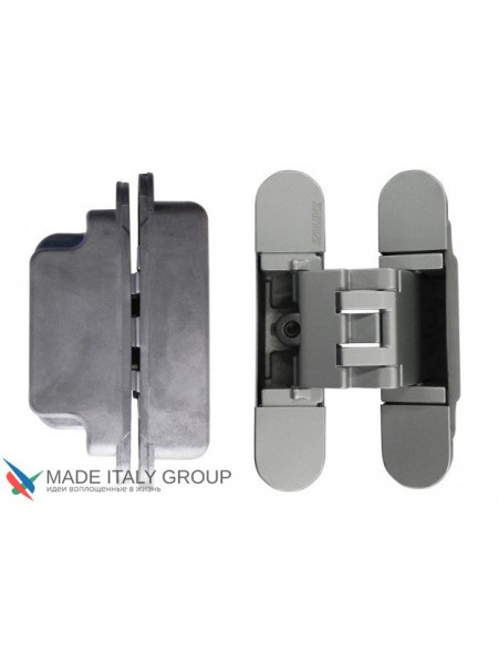 KUBICA 3000 DXSX, NS петля скрытая универсальная для дверей с притвором до 10мм матовый НИКЕЛЬ (60 кг)