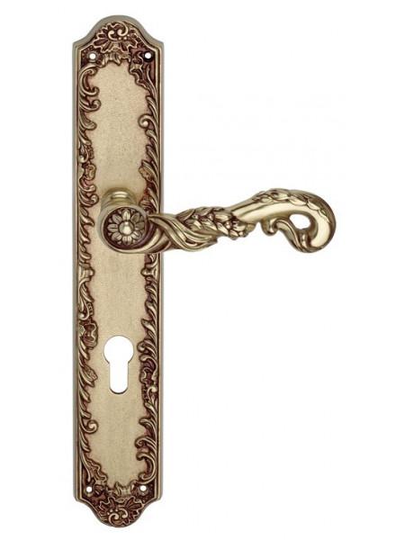 Дверная ручка Linea Cali на планке POESIA 1397 PL YALE OF Золото французское