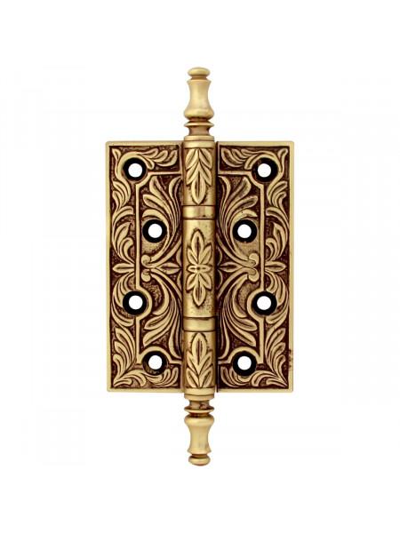 Дверная петля накладная Class В 5010 Золото 24К + коричневый
