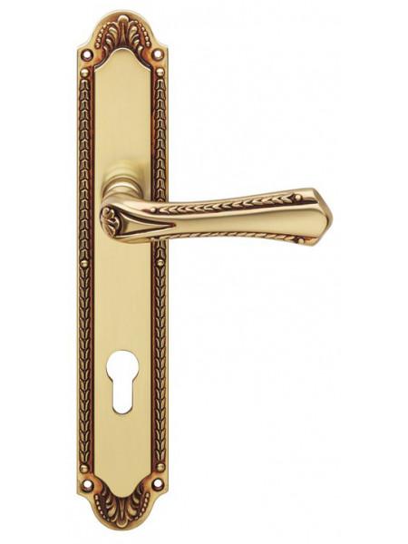 Дверная ручка Linea Cali на планке SISSI 1400 PL Yale OF Золото французское