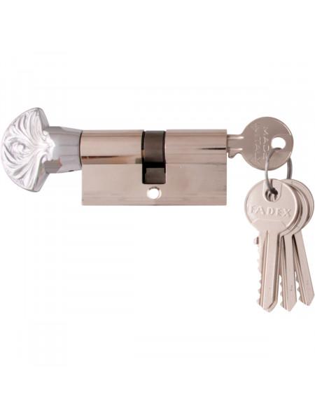 Дверной цилиндр Melodia 60 30/30 WC DECOR 5 ключей Полированный хром