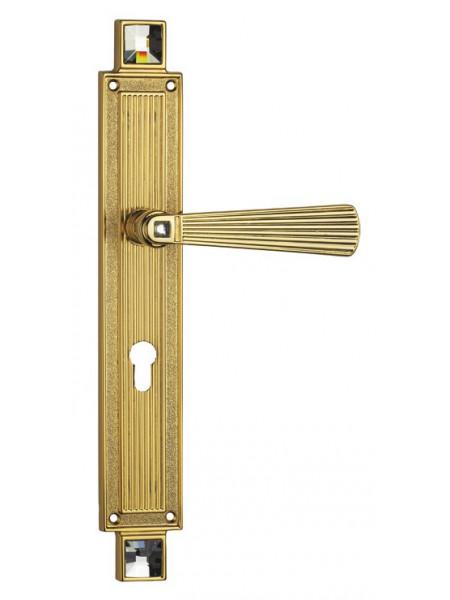 Дверная ручка Linea Cali на планке OPERA 1056 PL YALE OZ Золото 24К