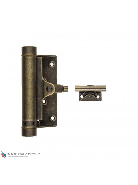Доводчик дверной стальной пружинный до 60кг 115OA003 ALDEGHI (125x300мм) античная бронза