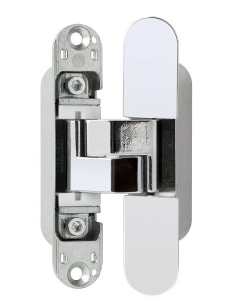 E30200.02.06 Петля скрытой установки AGB ECLIPSE 3.0 (полированный хром) + комплект накладок