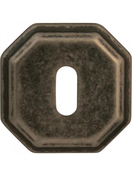 Дверная накладка Forme Cab квадратная RAT Античное серебро