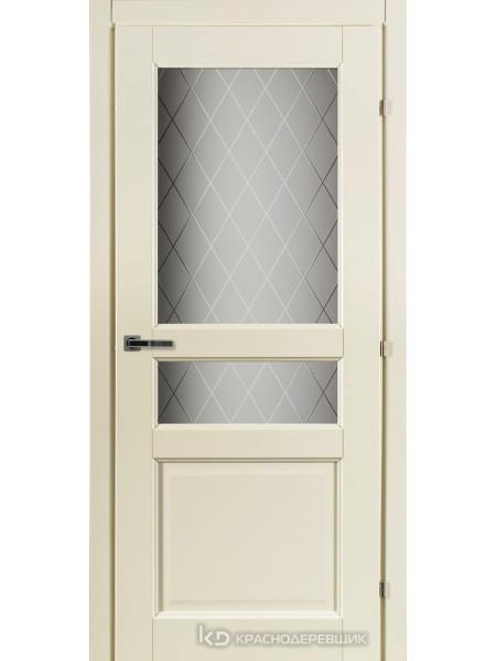 6000 Слоновая Кость CPL Дверь 6334 ДО 21- 7…9 (пр/л), с фурн., Стекло Кристалл