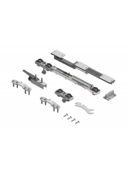 SF-Roller 80kg. Комплект фурнитуры SAHECO с планками-скобами и одним доводчиком (098082)