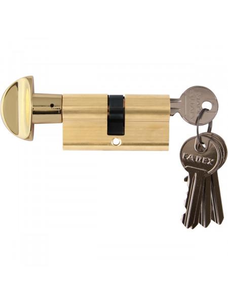 Дверной цилиндр Melodia 60 30/30 WC 5 ключей Полированная латунь