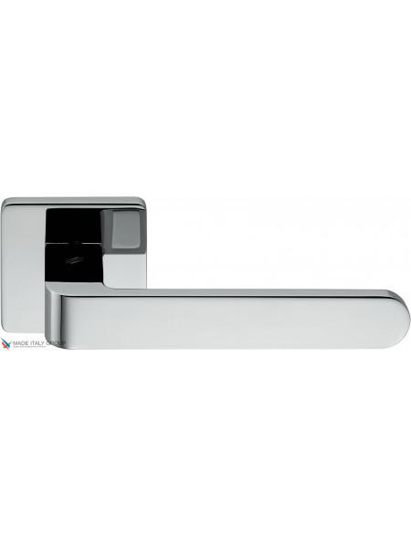 Дверная ручка на квадратной розетке COLOMBO Fedra AC11RSB-CR полированный хром