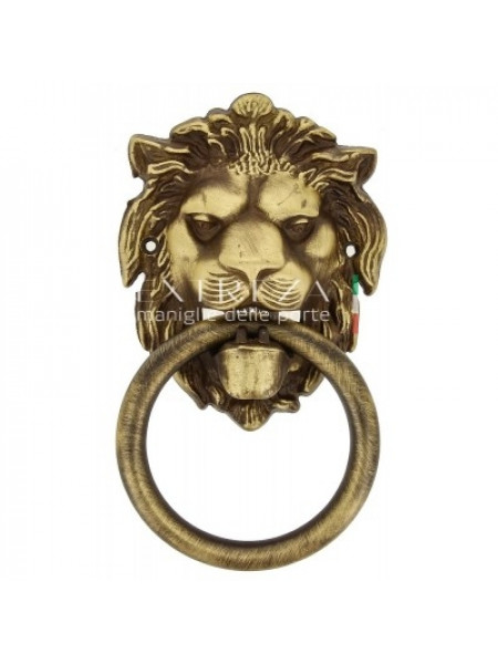 Дверное кольцо Extreza Leo матовая бронза F03