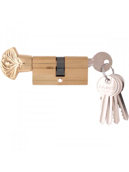 Дверной цилиндр Melodia 60 30/30 WC DECOR 5 ключей Полированная латунь
