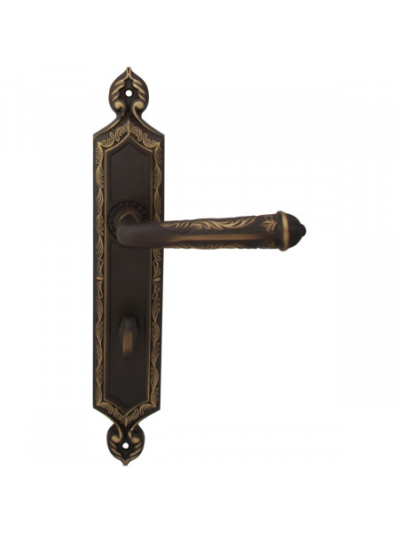 Дверная ручка на планке Class 1030 Rubin Wc Затемненная бронза