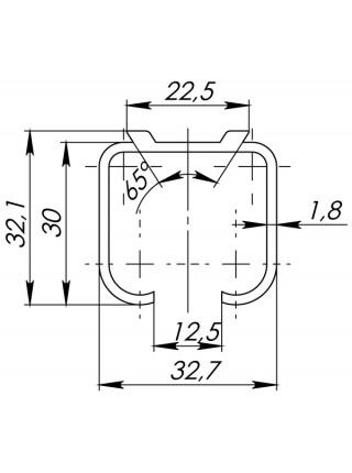 Верхняя направляющая Armadillo (Армадилло) Comfort R 60/80/1