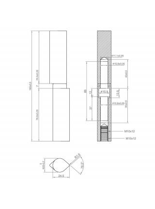Петля DOORLOCK HS-160AD регулируемая
