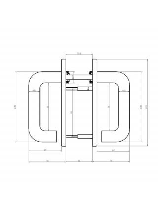 Ручка дверная DOORLOCK V S38KP/F PZ72 серия Variant, на короткой накладке, черный, подпружиненная